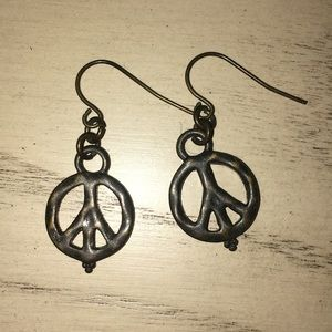 Lucky brand peace sign earrings!
